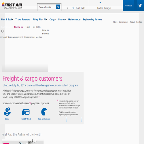 FIRST AIR CARGO FREIGHT