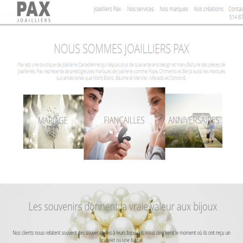 JOAILLIERS PAX JEWELLERS INC
