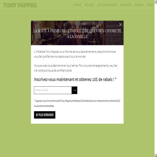 CORDONNERIE TONY PAPPAS INC