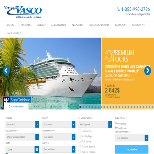 VOYAGES VASCO INC