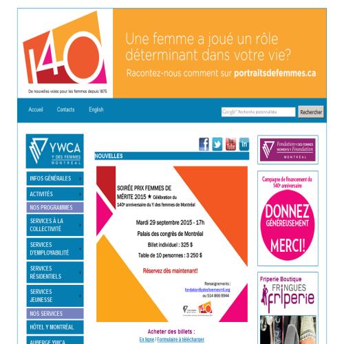 YWCA DE MONTREAL-Y DES FEMMES
